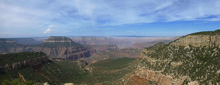 View of the Grand Canyon from Rainbow Rim Trail.