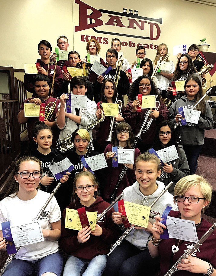 The Kingman Middle School honor band has collected numerous awards at regional and state competitions.