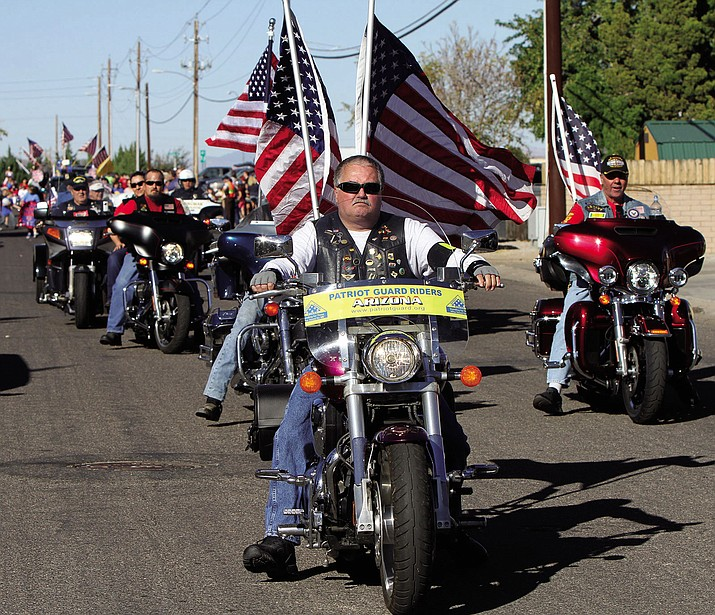 The Kingman Patriot Guard riders will escort the unclaimed and indigent cremains of 15 veterans down Stockton Hill Road to Interstate 40 Friday morning.