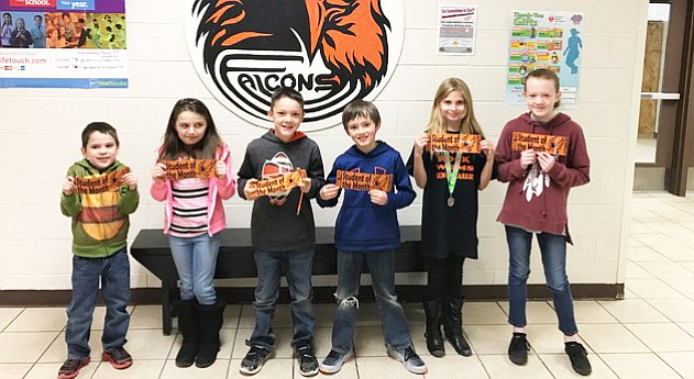 Kindergarten through fifth grade Students of the Month for Williams Elementary School.