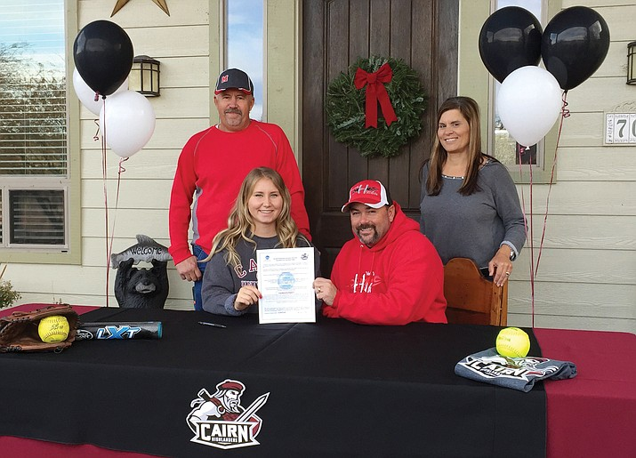 Mingus Union senior ace Krista Earl signed with Cairn University. After missing last season with a shoulder injury, she returned to lead the Lady Marauders with a 2.01 ERA, the fifth best earned run average in the state. (Photo courtesy John Brown)