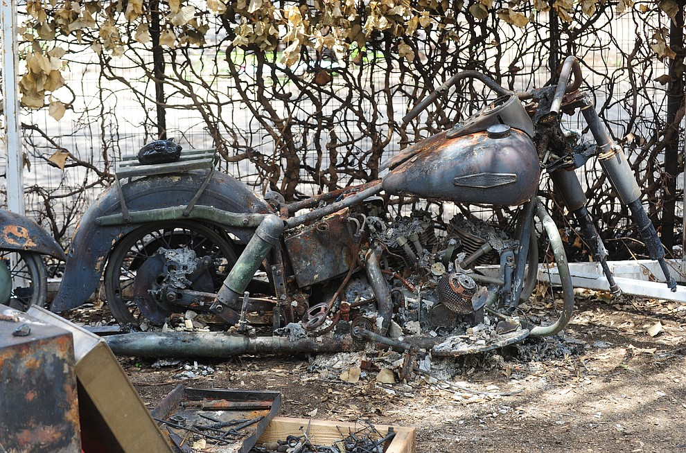 Yarnell, Ariz. - July 23, 2013.Les Stukenberg/The Daily Courier.Besides the home that he has lived in since 1965, Steve Keehner also lost his 1973 Harley Davidson.