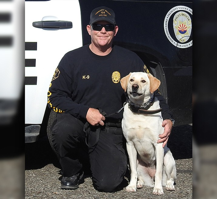 pvpd welcomes new narcotics dog and handler prescott
