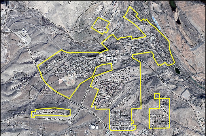 This map shows the Clarkdale neighborhoods targeted for the next phase of the Freeport Minerals Corporation soil testing. (Map courtesy of Freeport Minerals Corporation)
