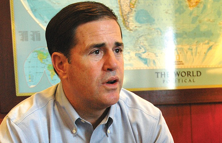 """Gov Doug Ducey: """"I have been consistently pro-life through my time as governor."""" (Photo by HowardFischer)"""
