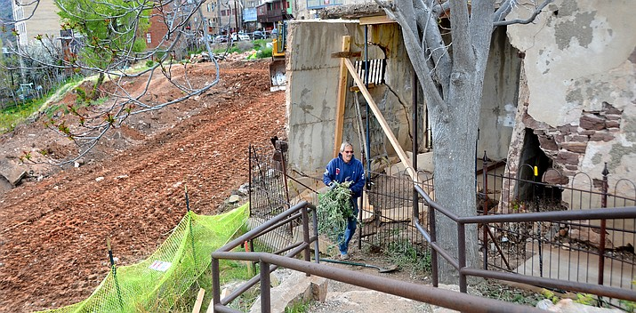 Work has begun on the sliding parking lot and Sliding Jail in Jerome. VVN/Vyto Starinskas