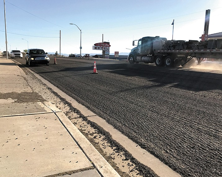A lot of work was completed on the milling project on Andy Devine Avenue's El Trovatore Hill last week, but more is necessary this week.
