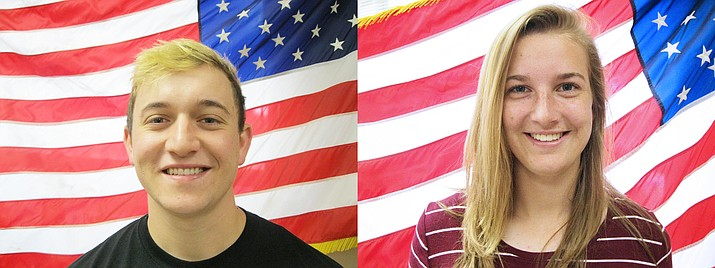 David Perez and Kayla Hackett are this month's Camp Verde Kiwanis students of the month. (Photos courtesy Camp Verde High School)