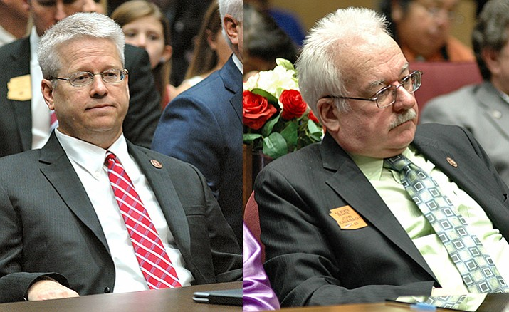 Rep. Eddie Farnsworth (left) and Sen. John Kavanagh (Capitol Media Services photo by Howard Fischer)