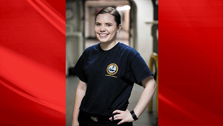 Petty Officer 3rd Class Cierra Kargenian of Kingman is a culinary specialist aboard the U.S. Navy aircraft carrier USS Theodore Roosevelt.