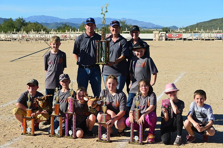 The first-place team from Del Rio Middle School archery team at the Ben Avery Shooting Facility in North Phoenix.