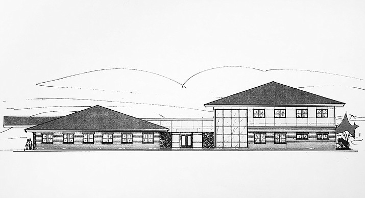 An artists rendition of the purposed new health clinic in Williams.