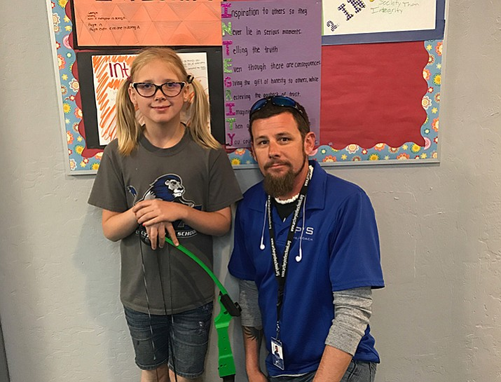 Laureli Potter, a fifth grader on the archery team at Prescott Valley School, qualified for the national tournament for the second straight year.