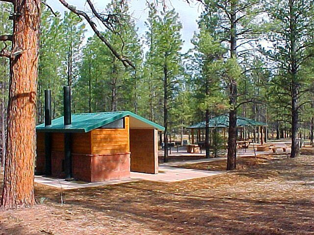 Facilities at Ten X Campground near Tusayan. Photo/Kaibab National Forest