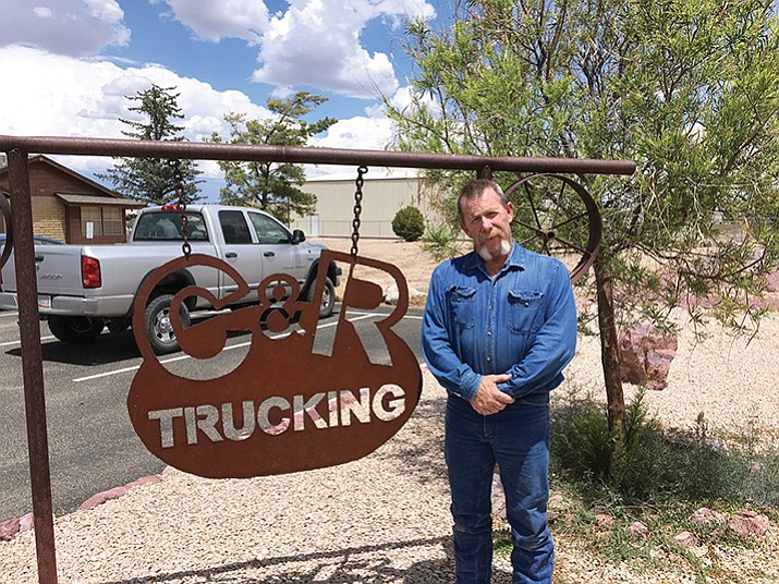 Chino Valley Town Councilmember Corey Mendoza is running for a two-year term in this year's election. He and his wife, Robin, own C&R Trucking.