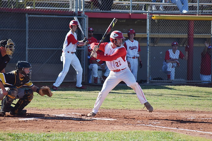 Mingus Union junior Tyler Kelly is tied for first in the state in home runs with six through 19 games for the No. 7 Marauders. He is also fourth in slugging percentage and sixth in runs. (VVN/James Kelley)