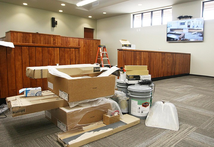 After a little touch up, the Town of Camp Verde's new municipal court facility will be open for business on Monday, April 17, according to Veronica Pineda, court supervisor administrator. (Photo by Bill Helm)
