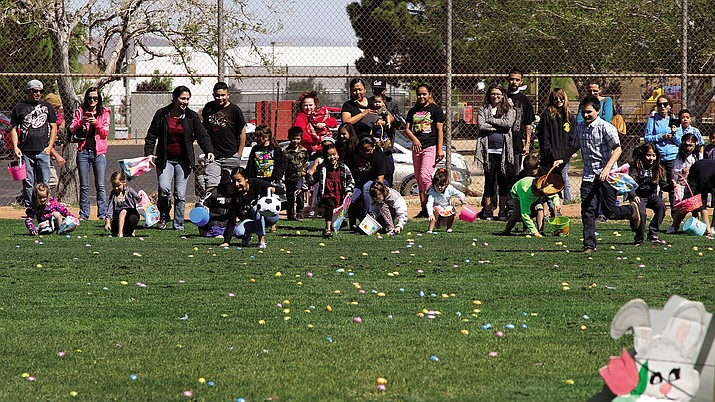 The Kingman Parks and Recreation Department is once again holding its annual Easter Egg Hunt Saturday at Centennial Park, just like it did in 2016 when crowds of parents and children attended the event that  was followed by an Egg Toss.