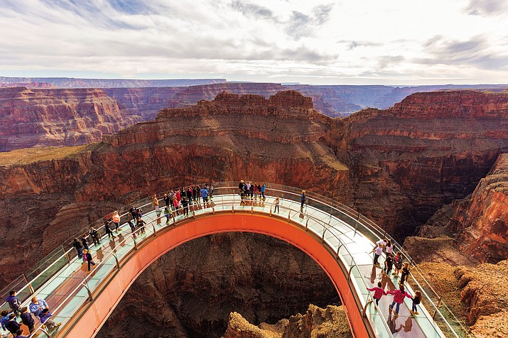 The $30 million Grand Canyon Skywalk attracted a record 1.2 million visitors in 2016, the second straight year of topping 1 million.
