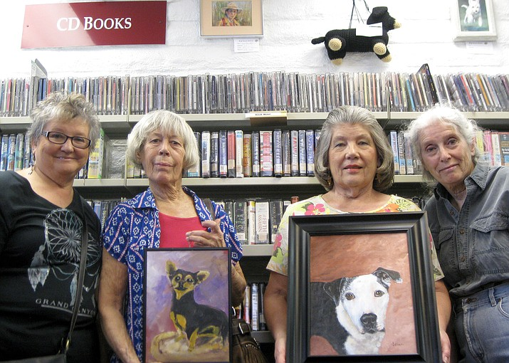 Members of the High Desert Artists painted pictures of dogs from the Chino Valley Animal Shelter and offer them for sale. For a $60 donation, half goes to the Shelter and half to the art club. View them through June at the Chino Valley Library. For more information, call Mary at 928-636-4628, or Elaine 928-636-8955.