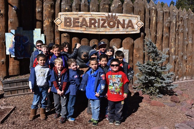 Cub Scouts visit Bearizona Drive Through Animal Park in Williams.