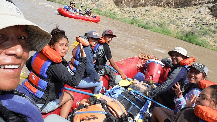 Native teens receive river guide training on San Juan River