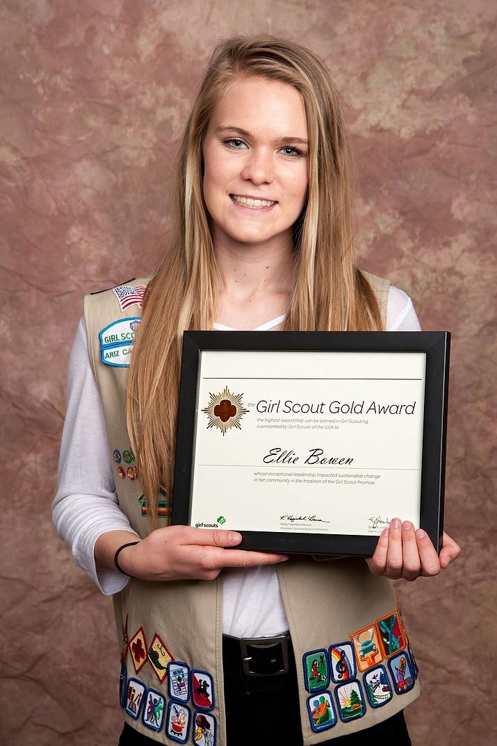 Girl Scout Recepient, Ellie Bowen.