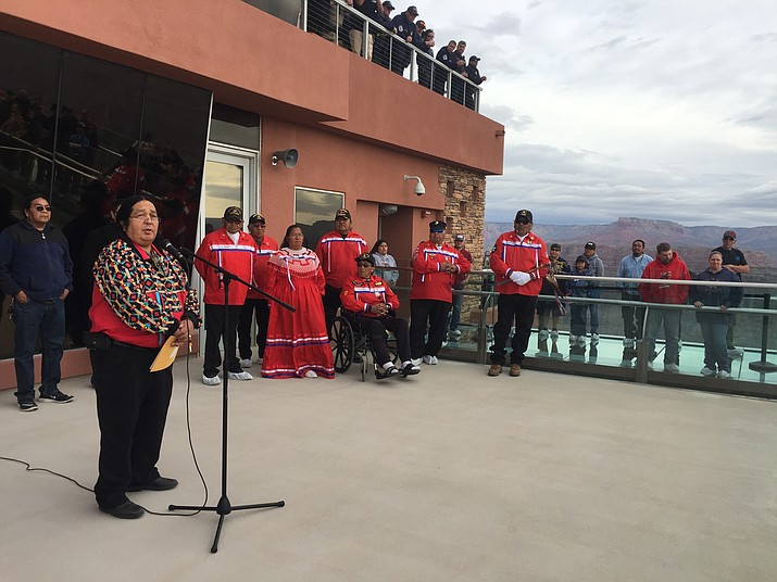 Grand Canyon Resort Corporation Board of Directors and Hualapai tribal leaders rededicate the Skywalk.