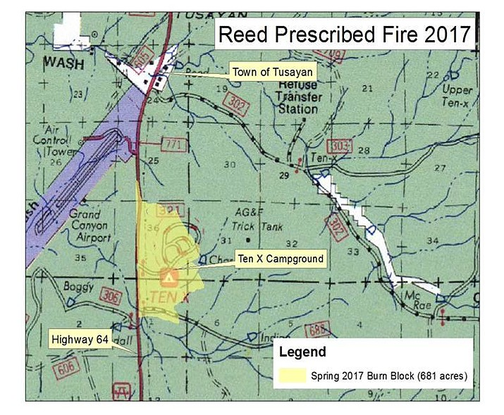 Crews plan to begin ignitions on a prescribed burn on the 681-acre Reed Prescribed Fire Project April 19.