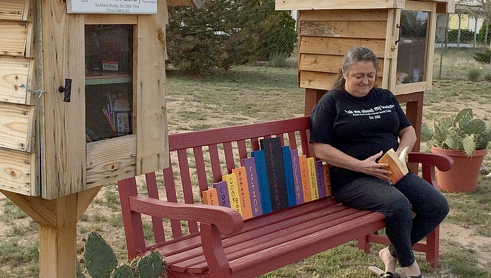 Chino woman adds Blessing Box to her Little Free Library