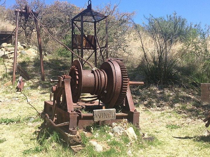 A winch is one of the displays at the Jerry Munderloh Mining Exhibit at Fain Park.