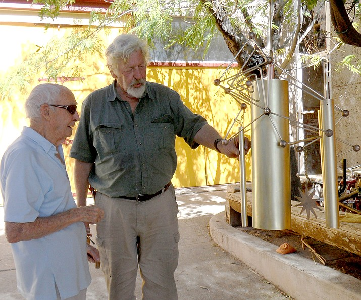 Arcosanti Founder Paolo Soleri and Cliff Hestead.