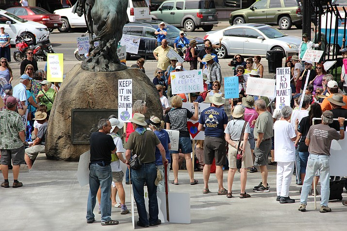 Local residents participated in the national demonstration marching on behalf of science in downtown Prescott on Saturday, April 22. The national debate comes before the Prescott City Council on Tuesday, when they consider a climate change resolution.