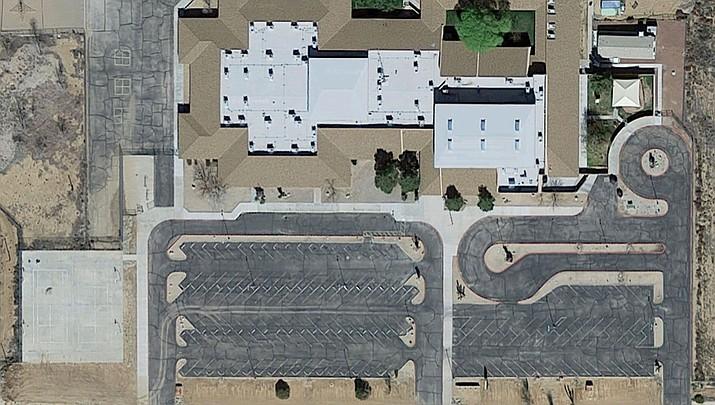 Cerbat Elementary campus on Jagerson Avenue via Google Maps Satellite view.