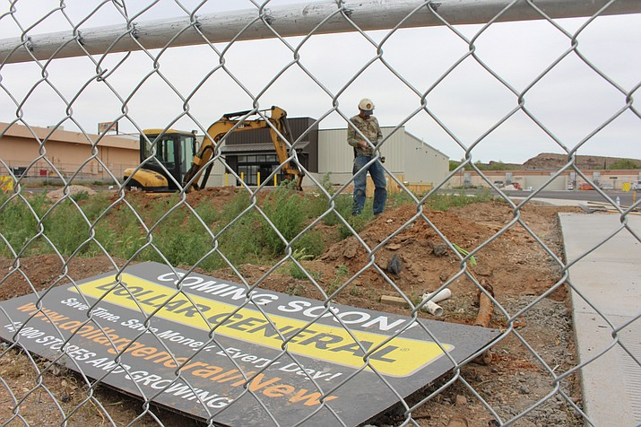 The 7,500-square-foot building shell and parking lot are finished on the Dollar General store under construction at 525 W. Beale Street in downtown Kingman, and workers are putting in utilities. DG Fenn Construction of Phoenix is the general contractor on the $495,000 construction project.