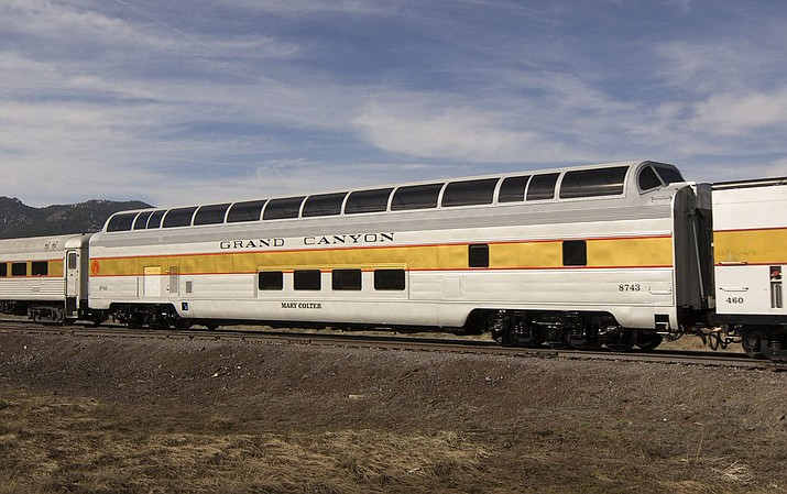 The Mary Colter is one of two luxury dome cars offered by Grand Canyon Railway. The car offers elevated seating and unobstructed views along the route from Williams to Grand Canyon Village.