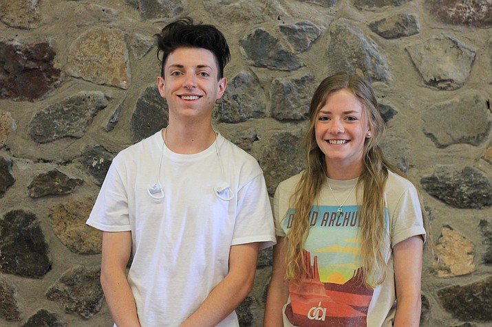 April Students of the Month at Williams High School Clint Mann and Rylie Heap.