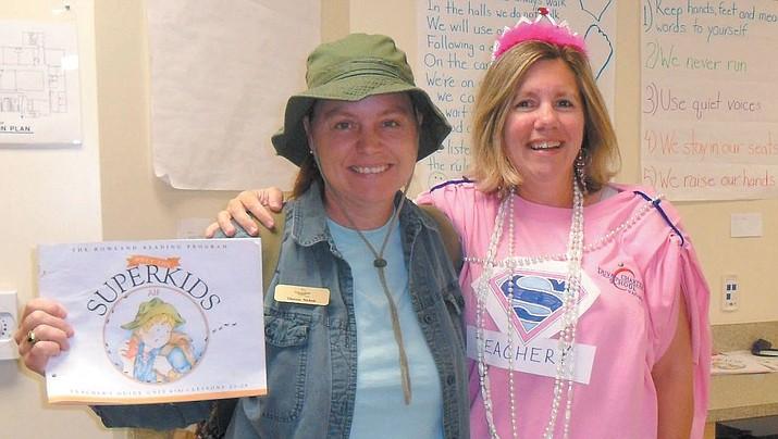 Heather Shaw-Burton (right) in her days as a kindergarten teacher.