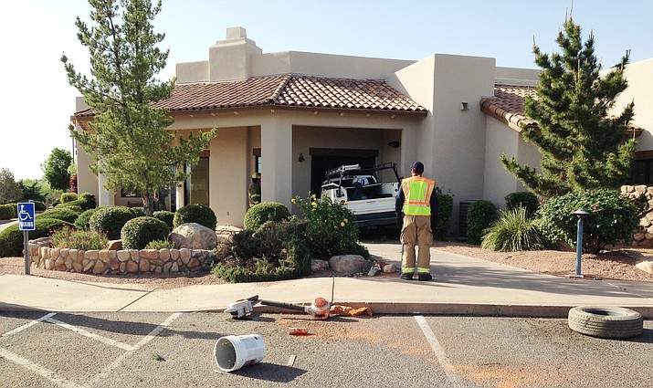 The Cottonwood Fire and Medical Department responded to a report of a vehicle into a building Tuesday morning. (Photo courtesy of CFMD)