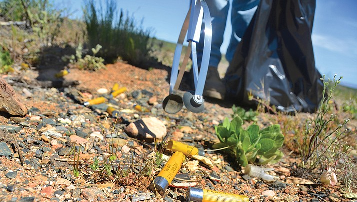 Unofficial shooting range doubles as  ammunition trash pile