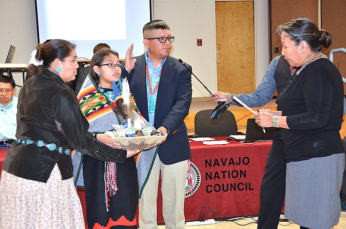 Steven Begay is sworn-in as member of 23 Navajo Nation Countil. Submitted photo