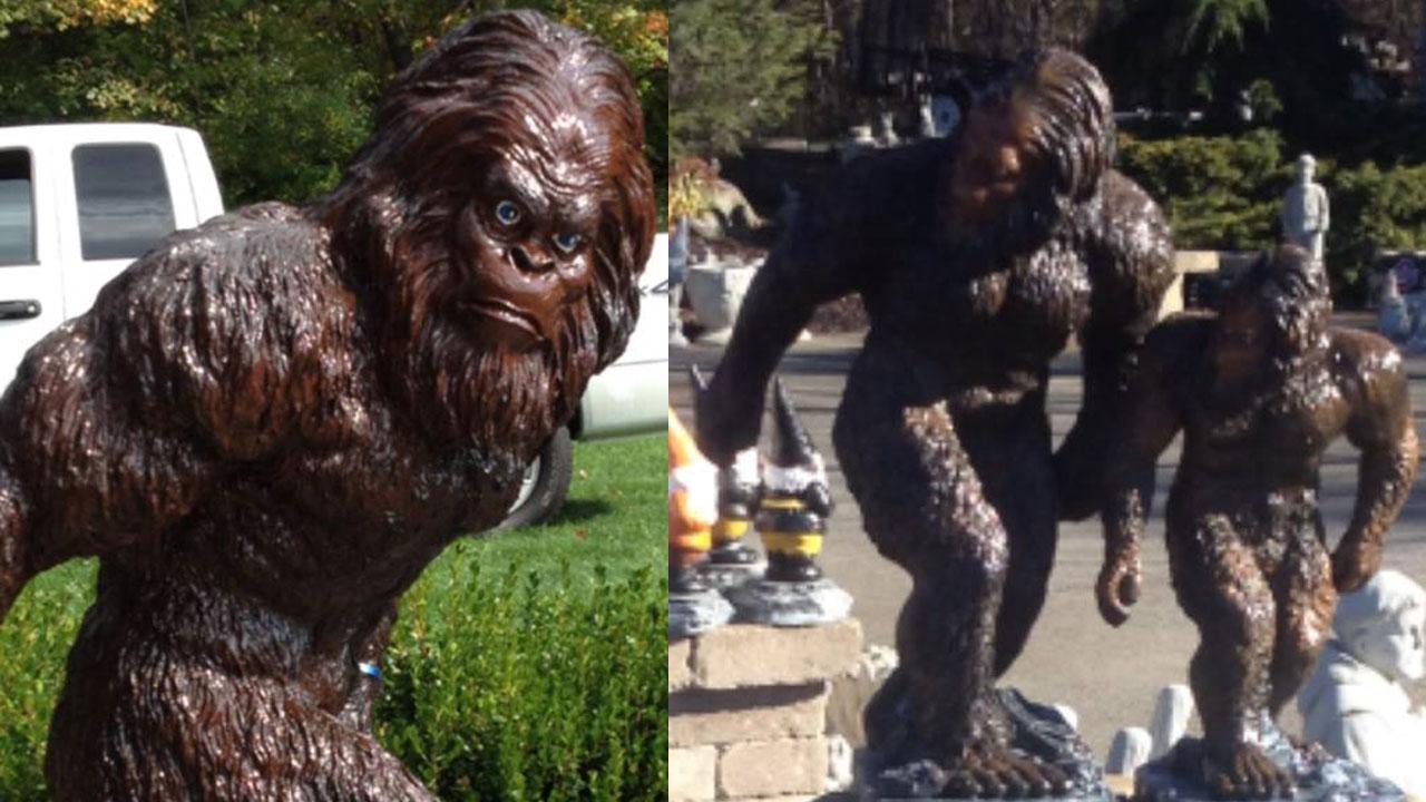 bigfoot on the lam  sasquatch statues vanish from ohio