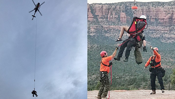 Back country crew, DPS Ranger helicopter team to rescue lost hiker on Devil's Bridge
