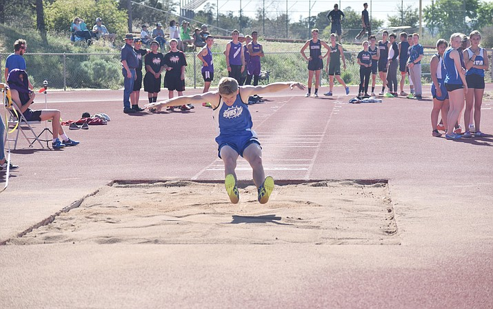 Camp Verde junior Nate Schultz leads the Cowboys' contingent heading to the state meet. Schultz already owns the school's triple jump record and was state player of the week in soccer. (VVN/James Kelley)