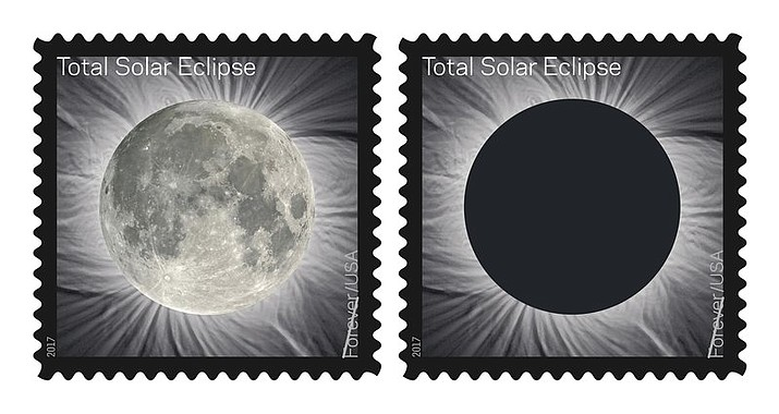 The Postal Service will soon release the Total Solar Eclipse Forever stamp, a first-of-its-kind stamp that changes when you touch it. The new stamp will commemorates the Aug. 21 eclipse, transforming into an image of the Moon from the heat of a finger.