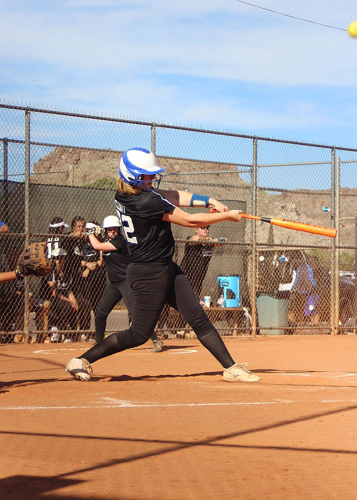 Kingman Academy's Chloe Elliot accounted for the lone RBIs of the game, as she hit a 2-run single in a 6-2 loss to San Manuel Friday in the first round of the AIA 2A State Tournament at Rose Mofford Park in Phoenix.