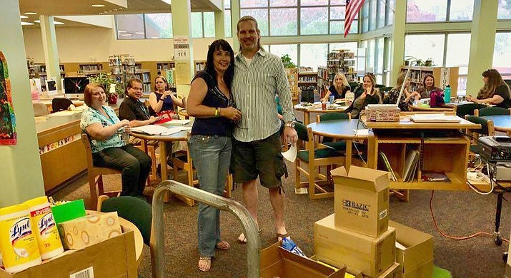 This is the third year the community has officially helped the teachers at Big Park as their classroom supplies dwindle about halfway through the school year.