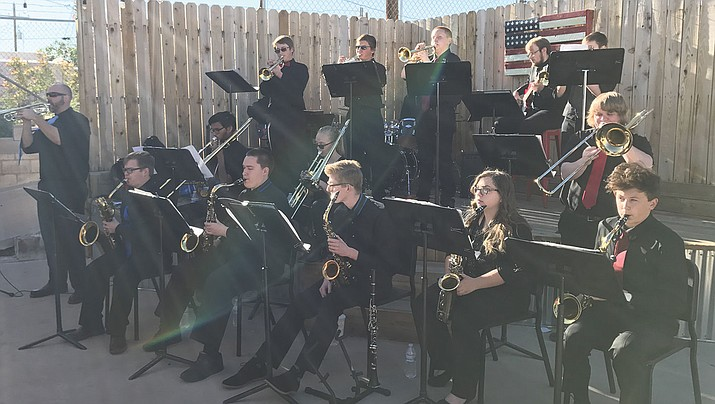 Kingman High School jazz band.
