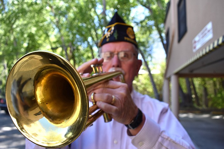 John Stevens, 76-year-old U.S. Air Force veteran, has been sounding Taps in the Prescott area for 16 years.