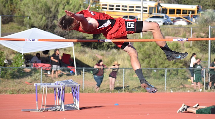 Mingus Union junior Jonathan Jung finished tied for first in the high jump at the Alhambra Last Chance with a leap of 5-08.00. Jung is ranked 14th in the state, in Division III, in the high jump. (VVN/James Kelley)